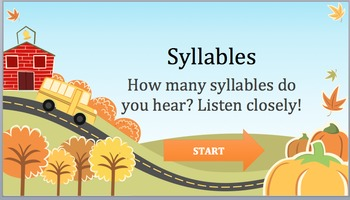 Syllables Game: Listen & Learn Fun! FREE!