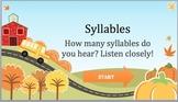 Syllables Game: Listen & Learn Fun! FREE!