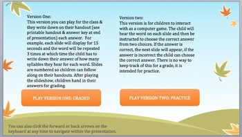 Syllables Game: Listen & Learn Interactive Fun! AMAZING! Full Version!