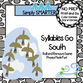 Syllables Go South:  NO PREP Animals In Winter Themed Roll and Remove Game
