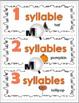 Syllables Sort - Halloween Literacy Activity