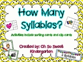 "Syllables ""How Many Syllables Activities"""