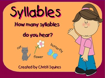 Syllables   How many do you hear?  (SMARTBoard Lesson)