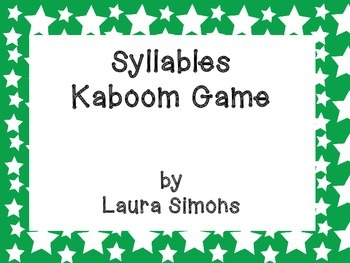 Syllables Kaboom Game