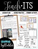 Syllables Lesson Plan
