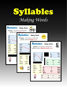 Syllables:  Making Words