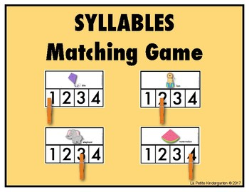 Syllables Matching Game