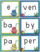 Syllables Matching Game: Open & Closed Syllables (40 Task Cards, Game Board)