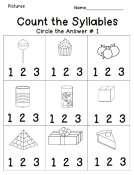 Syllables Mini Unit for Special Education