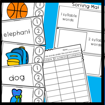 Syllables- Game and Sorts