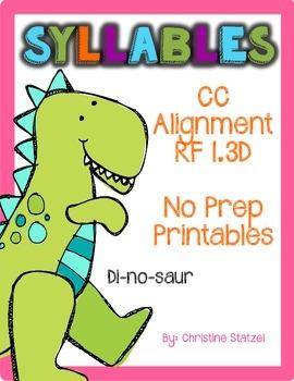 Syllables {No Prep Printables}