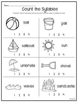 Syllables {No Prep Printables}