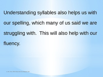 Syllables Overview