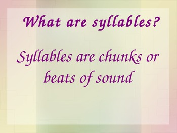 Syllables PPT
