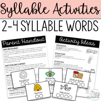 Syllables- Pacing cards and Activity Pages