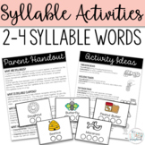 Syllables- Pacing cards and Activity Pages for Speech Therapy