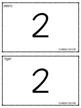 Syllables Phonemic Awareness Task Cards