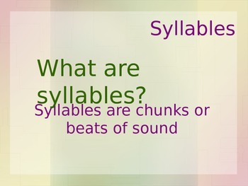 Syllables PowerPoint!