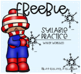 Syllables Practice Worksheet