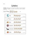 Syllables Practice with Assessment
