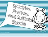Syllables, Prefixes, and Suffixes Bundle