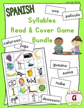 Read and Cover Syllable Games BUNDLE (Spanish)