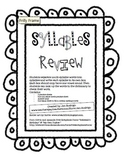 Syllables Review