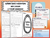 Syllable Rules! Lesson & Trifold BUNDLE