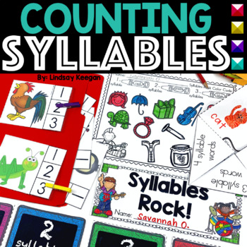Syllables Rock! Syllable Sorting Mats, Write the Room, Fol