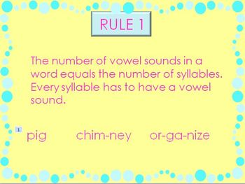 Syllables Rules & Practice Power Point Presentation
