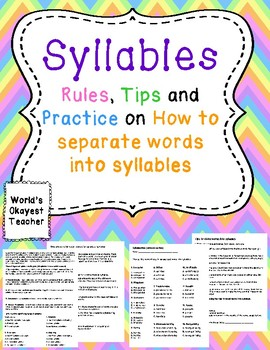 Syllables: Rules, Tips, and Practice