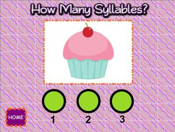 Syllables SMART BOARD Game