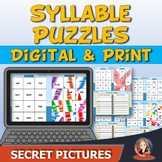 Syllables Secret Picture Puzzles Digital and Print for Dis
