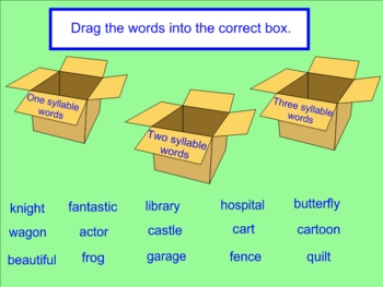 Syllables Smartboard
