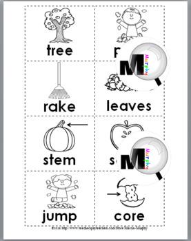 Syllables Sort - Autumn Literacy