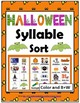 Syllables Sort BUNDLE – 4 Autumn Themes