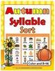 Syllables Sort BUNDLE – 4 Autumn Themes