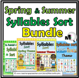 Syllables Sort Bundle - 4 Spring & Summer Activities