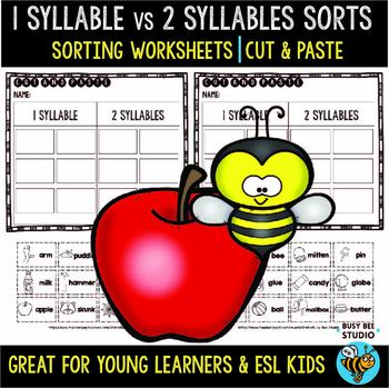 Syllables Sort | Cut and Paste Worksheets