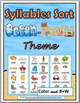 Syllables Sort - Ocean Theme