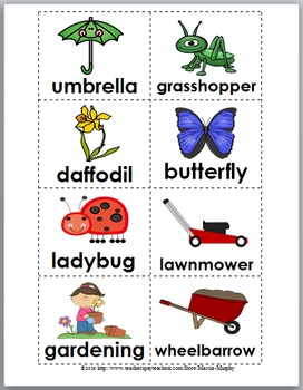 Syllables Sort - Spring Literacy