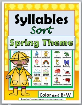 Syllables Sort - Spring Theme - Spring Activity