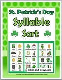 Syllables Sort - St. Patrick's Day Literacy Activity