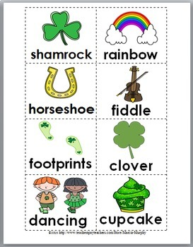 Syllable Sort - St. Patrick's Day Literacy