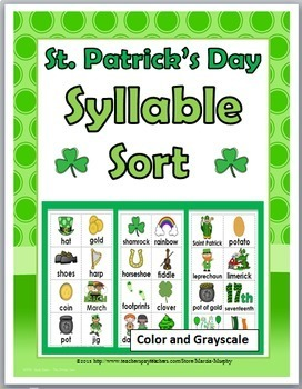 Syllables Sort - St. Patrick's Day Theme