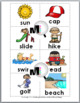 Syllables Sort - Summer Theme - Summer Literacy - Summer Activity