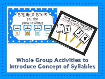 Syllable Segmentation Counting Syllables RTI Pack: items with 1-4 syllables