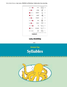 Syllables (Take It to Your Seat Centers)