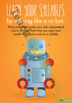 Syllables – Talk Like a Robot Poster