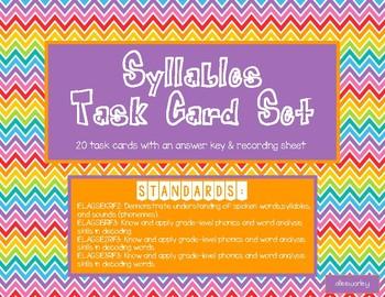 Syllables Task Card Set